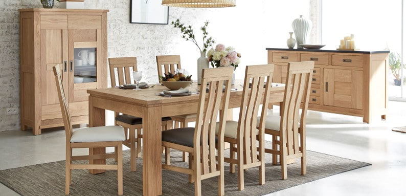 table chaises salle manger table chaise salle manger rue du commerce with table chaises salle. Black Bedroom Furniture Sets. Home Design Ideas