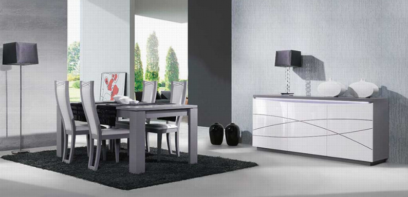 salle manger maryland plaza ch ne laqu verre et c ramique. Black Bedroom Furniture Sets. Home Design Ideas
