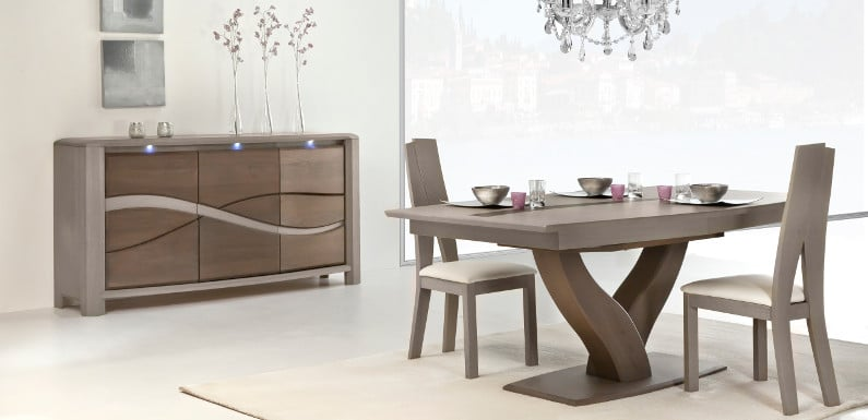 Table salle a manger design pied central maison design for Salle a manger design 2015