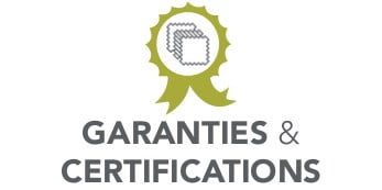 GARANTIES ET CERTIFICATIONS